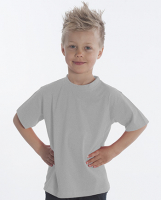 SNAP T-Shirt Basic-Line Kids, Gr. 128, Farbe Asche