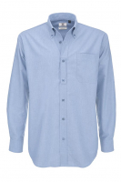 Hemd B&C Oxford LSL Men Oxford blau Grösse 5XL