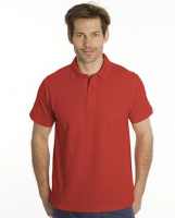 SNAP Polo Shirt Star - Gr.: S, Farbe: rot