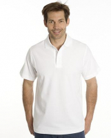 SNAP Polo Shirt Star - Gr.: L, Farbe: weiss