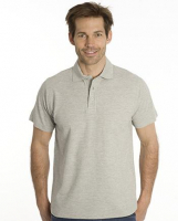 SNAP Polo Shirt Star - Gr.: XL, Farbe: grau meliert