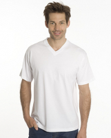 SNAP T-Shirt Flash Line V-Neck Unisex, weiss, Gr. 4XL