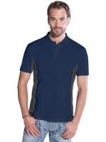Promodoro Men Function Contrast Polo Navy - hell grau, Gr. L