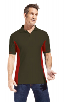 Promodoro Men Function Contrast Polo hunling green - rot, Gr. 2XL